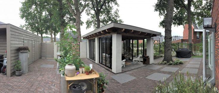 Moderne veranda. Ontwerp van Buro Ruijs