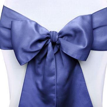 stuhlschleifen satin marine blau 10 st stuhl schleifen hochzeitsshop und blau