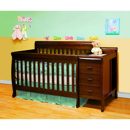 Athena Kimberly Convertible Crib And Changer With Toddler Rail