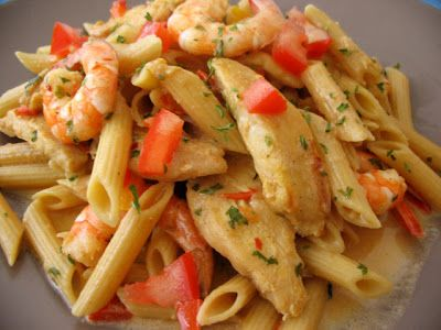 Cajun Chicken and Shrimp Pasta (just like TGIF recipe)