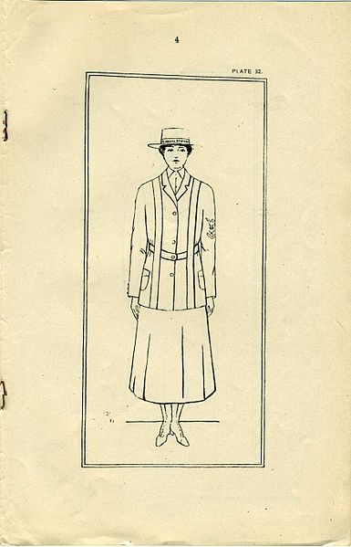 File:US Navy Reserve Force, Yeoman F, WWI Changes in Uniform Regulations No 15, Page 4. (4669164207).jpg