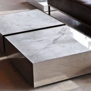 White Carrera Marble Coffee Table