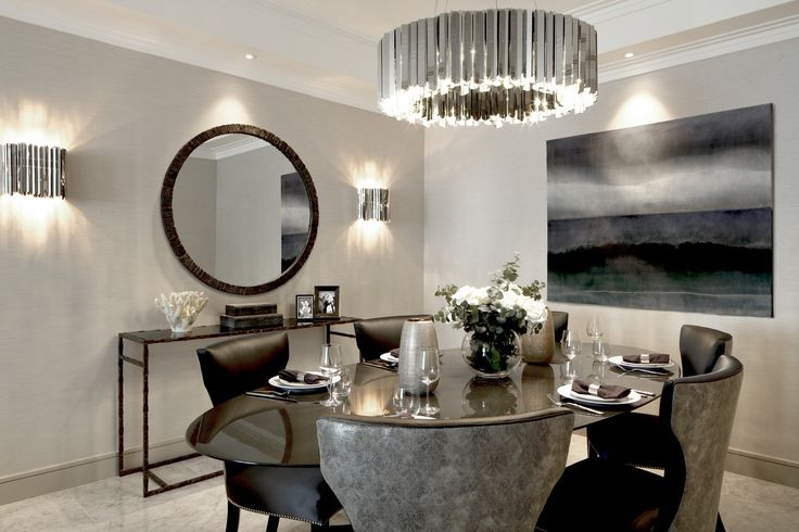 FACET in Private Residence in Hans Cresent, by Laura Hammett Ltd, Knightsbridge, London, UK  http://www.innermost.net/wp/facet-chandelier