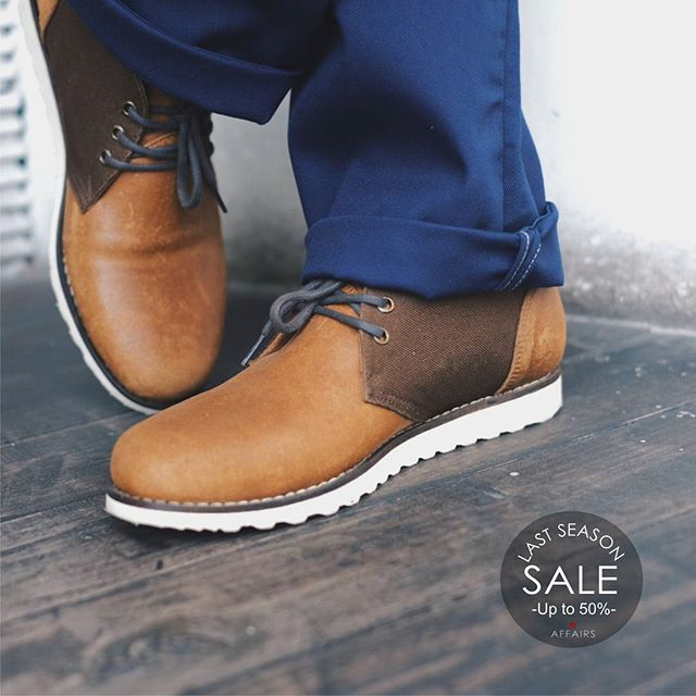 LAST SEASON SALE  Get this pair of @affairsyk X @cedricfootwear Salvatore Chukka Boots while it lasts  Normal price IDR 749.000 After discount IDR 659.000  More sale items kindly check www.facebook.com/affairsstore  #SalvatoreChukka #lastseasonsale #affairsstore