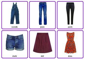 Photo Flash Cards 48 Clothes: 3 Formats (Pictures only, with text, and write-on/wipe-off)