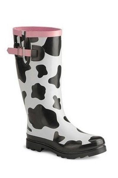 Western Chief Women's Cow Design Rain Boots