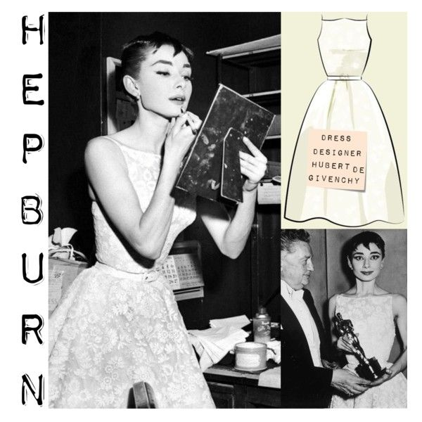 Audrey Hepburn  won Best Actress at the Oscars in 1954 for her role as Princess Ann in the film Roman Holiday. She wore a dress designed by Hubert de Givenchy. #OscarsThrowback #History #Fashion #Oscars #Hepburn #AudreyHepburn