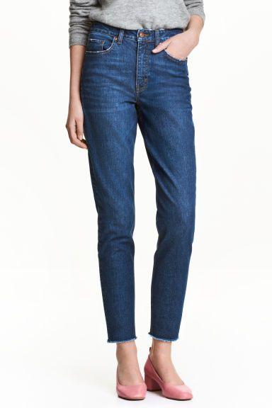 Vintage High Ankle Jeans - Dark denim blue - Ladies | H&M 1