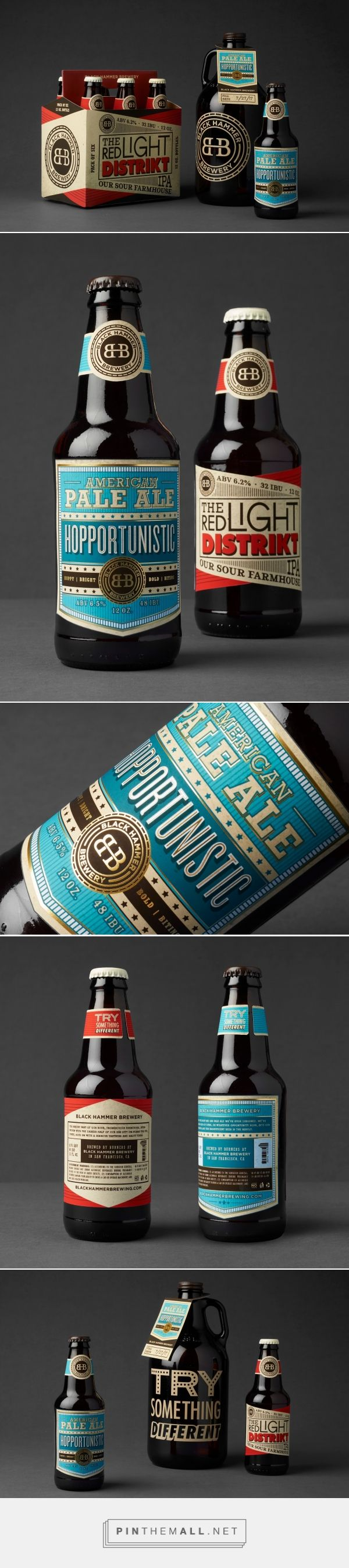Black Hammer Brewery (student project) packaging design by Celina Oh - https://www.packagingoftheworld.com/2018/04/black-hammer-brewery.html