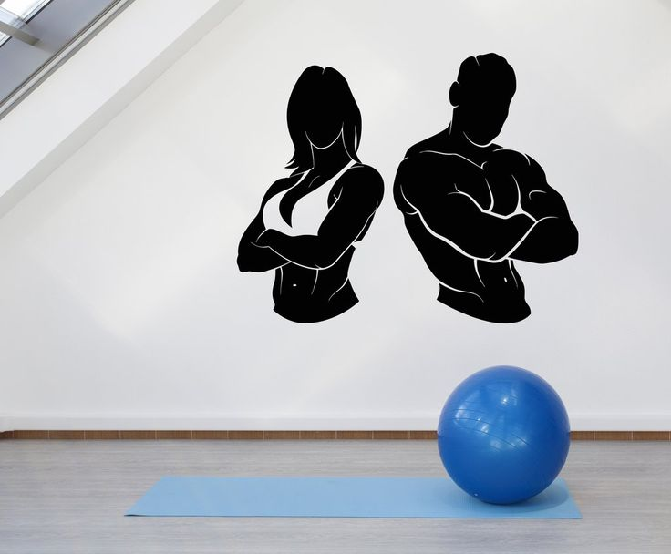 Vinyl Wall Decal Gym Girl Guy Muscle Fitness Beautiful Body Stickers U – Wallstickers4you