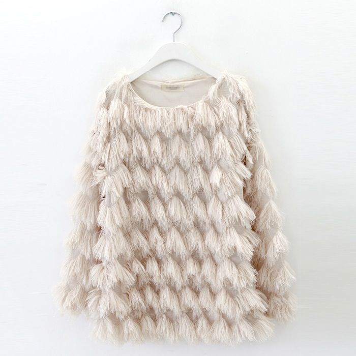 Clever fringing to look like fur