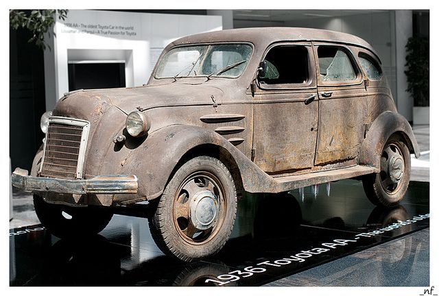 1936 Toyota AA.  World's oldest Toyota #toyota #vintage #cars #auto #old #stampedetoyota #yyc   http://www.stampedetoyota.com