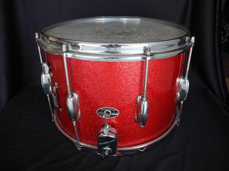 Vtg Slingerland 14 x 10 Snare Drum 8 Lug Sparkling Red Pearl 60s 70s Incomplete #Slingerland