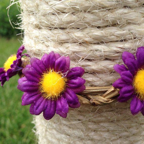 Purple+daisy+braided+grape+vine+headpiece+by+GeminiiRushDesigns