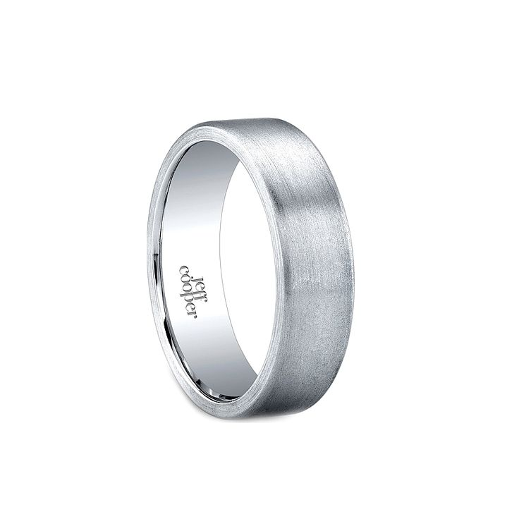 Mens Platinum Wedding Bands 6mm