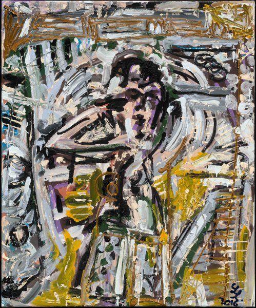Die Bilder, die Leon Löwentraut für die New Yorker Ausstellung gemalt hat, sind...