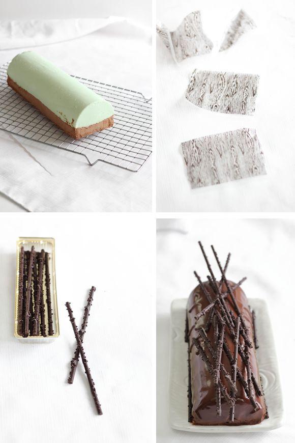 Sprinkle Bakes: Mint Chocolate Cheesecake Bûche de Noël