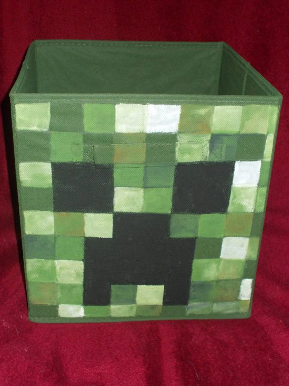 Hey, I found this really awesome Etsy listing at https://www.etsy.com/listing/234391545/hand-painted-creeper-minecraft-fabric