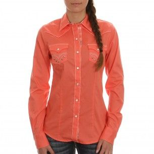 Cruel Women's Embroidered Coral Shirt