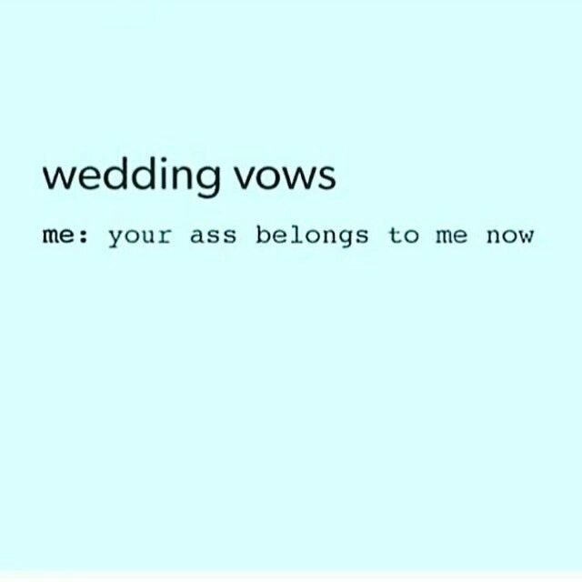 17 Best Ideas About Funny Wedding Vows On Pinterest
