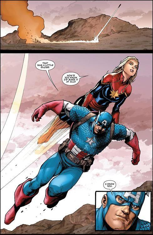 Carol & Steve, BFFs. I'm on Team Flying-Avengers-Carrying-Captain America.