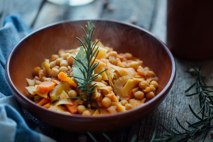 Zuppa di ceci e Maltagliati Luciana Mosconi. Ricetta di @andrea_volpini #ricette #recipe #pasta #lucianamosconi #madeinitaly #sfogliaporosa