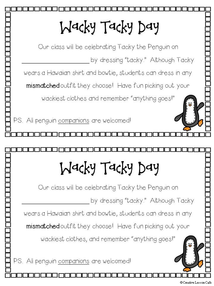 Wacky, Tacky the Penguin Fun!