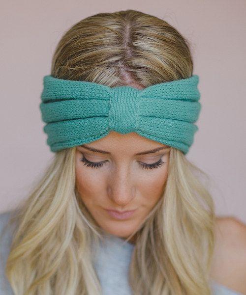Ribbed Headband Knitting Pattern : Three Bird Nest Mint Ribbed Headband Knitted headband, Rib knit and Scarf hat