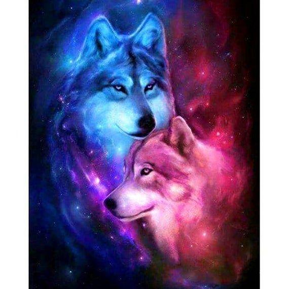 Wolf 5D Diamond Painting DIY Embroidery Cross Stitch Home Decor Needlework
