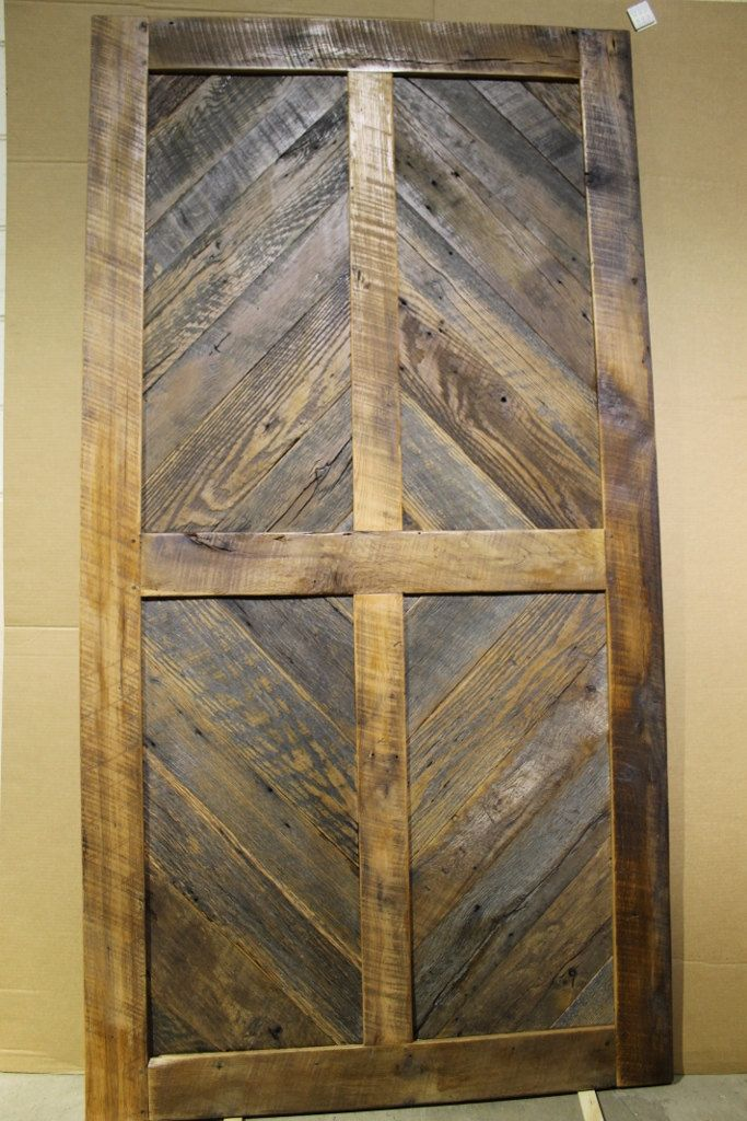 Sliding Barn Door Antique Reclaimed Wood Diamond