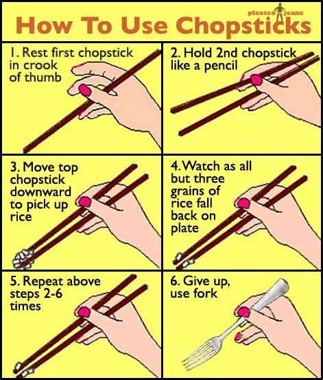 How to use chopsticks.