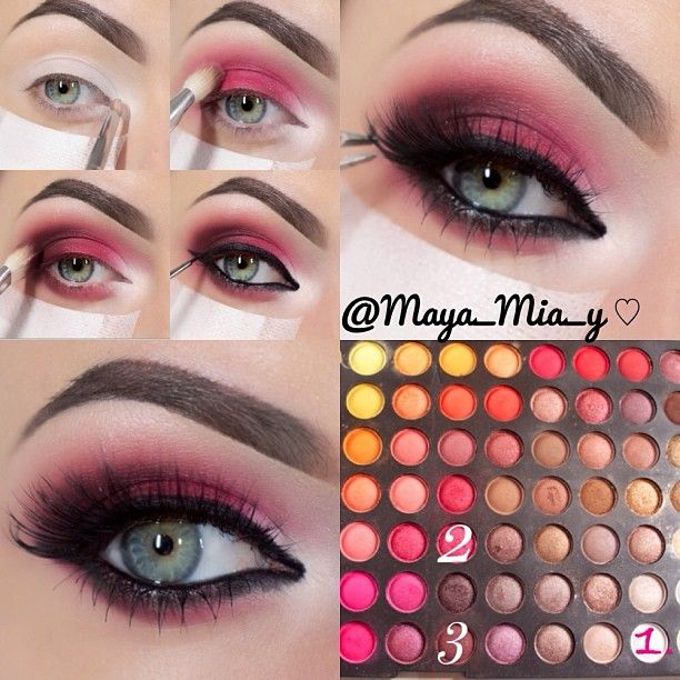 .@maya_mia_y | White pink and maroon using the 252 Ultimate Palette by Coastal Scents 1.A... | Webstagram - the best Instagram viewer