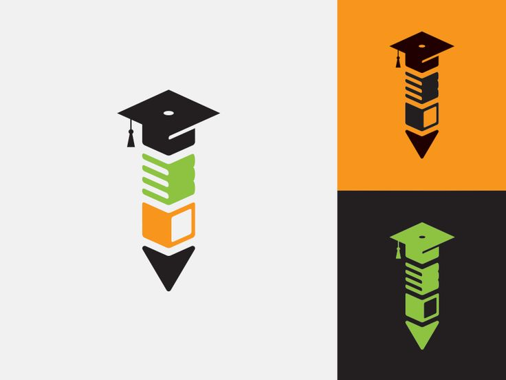 Logo icon for the National Educators Association Foundation (NEAF), a support organization for teachers Kindergarten -12. The mark combines books, a laptop, and that funky graduation party hat they...