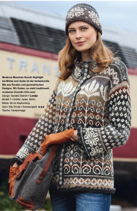 1160 besten fair isle knit bilder auf pinterest stricken und h keln strickmuster und pullover - Fair isle pullover damen ...