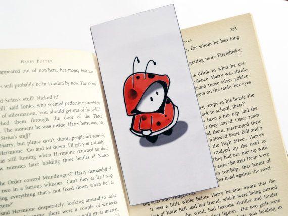 Laminated bookmark ladybug little red riding by FunkyFancyAnimals, €1.70
