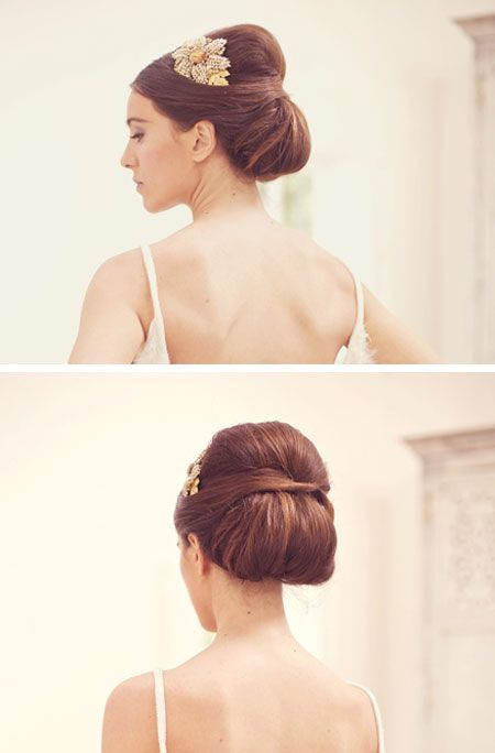 Wedding hair - too retro? I doubt it will work with my super straight and thin hair! boo!