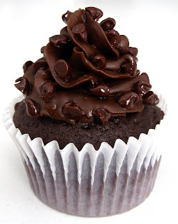 Dollhouse Bake Shoppe: Triple Chocolate Truffle Cupcakes {Small Batch - Yield: 8}