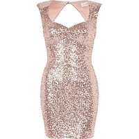 Light pink Lashes of London sequin dress_perfect for new years eve!