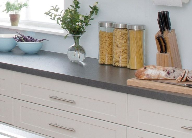 white shaker cupboards dark benchtop kitchen kitchen benches kaboodle on kaboodle kitchen white pepper id=40537