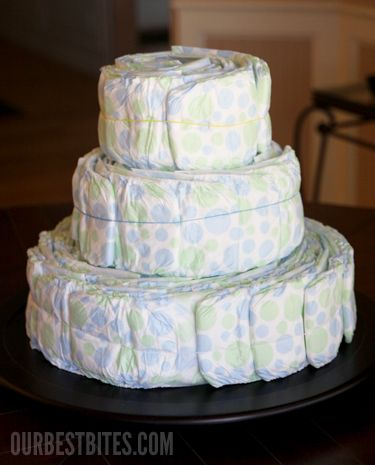 How to make a diaper cake... This site tell all...