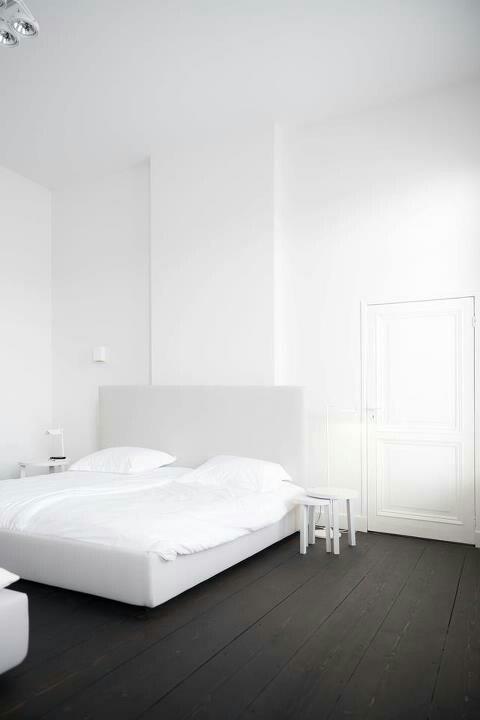 Wide & dark floorboards