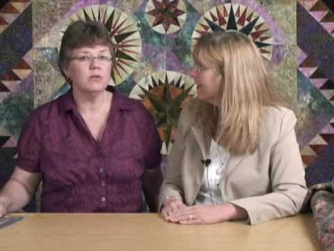 BONNIE IS ON i Tunes she has great video podcasts  for quilters....... Love her interviews........      #049 Bonnie McCaffery - Brenda Henning  Mariners Compass and more
