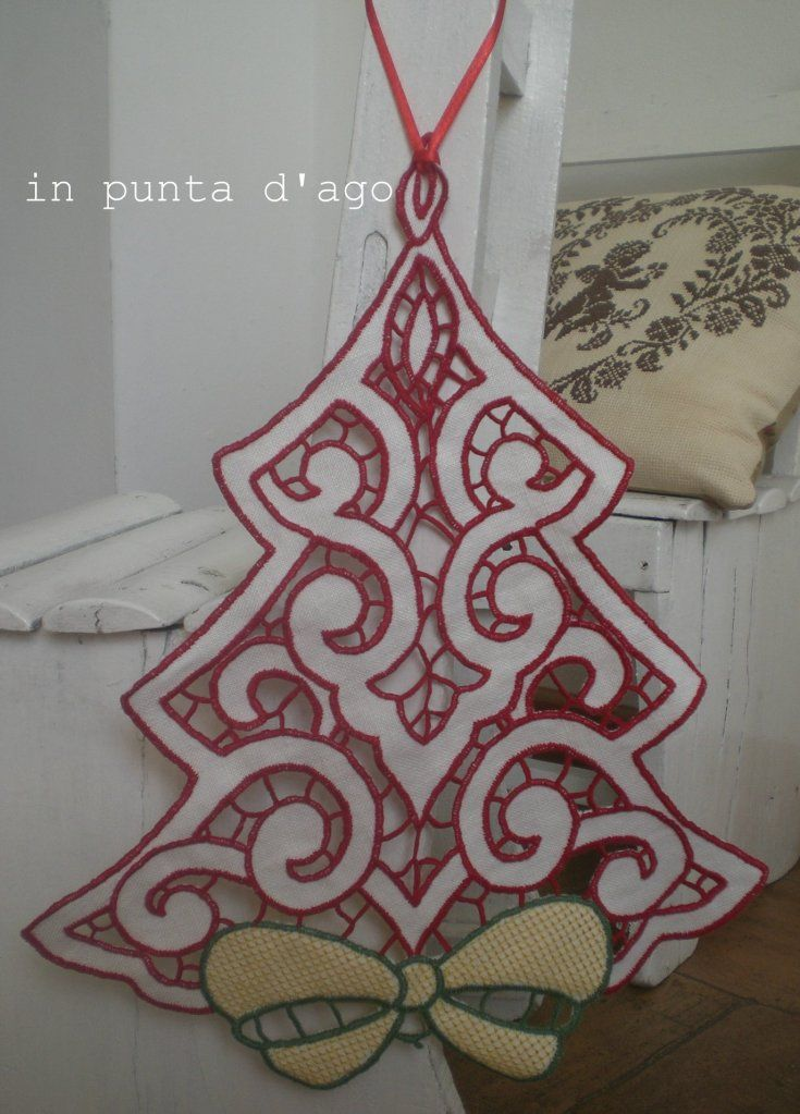 Cutwork embroidery - LOVE everything but the bow
