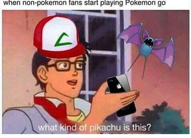 Words can't describe how painfully accurate this is. People call themselves fans just because they downloaded Pokémon Go, but they don't know anything else about Pokémon.