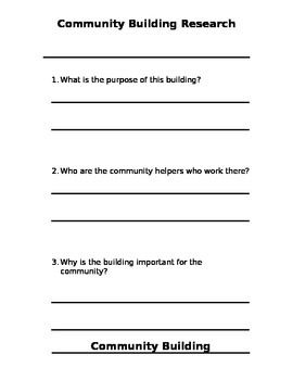 Community Buildings Research Project Templates