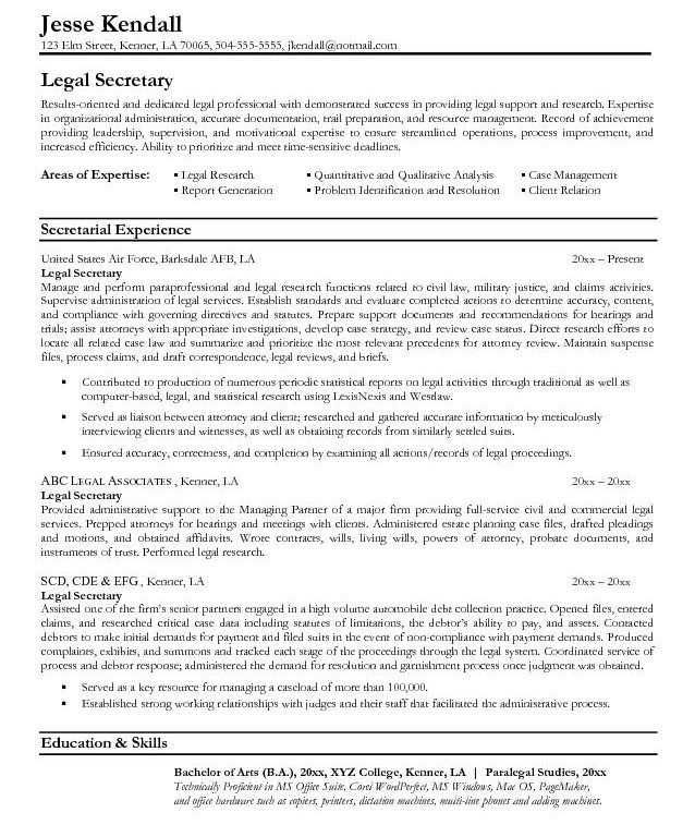 Trust And Estates Attorney Resume - Specialist's opinion