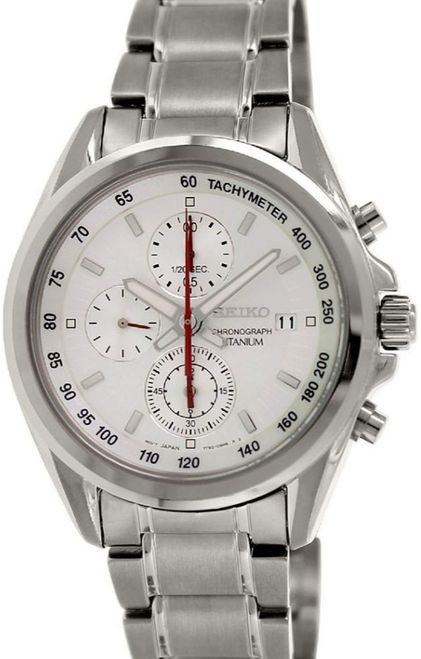 Seiko Titanium Chronograph Men's Watch SNDE57P1 - In Stock, Free Next Day Delivery, Our Price: £144.99, Buy Online Now
