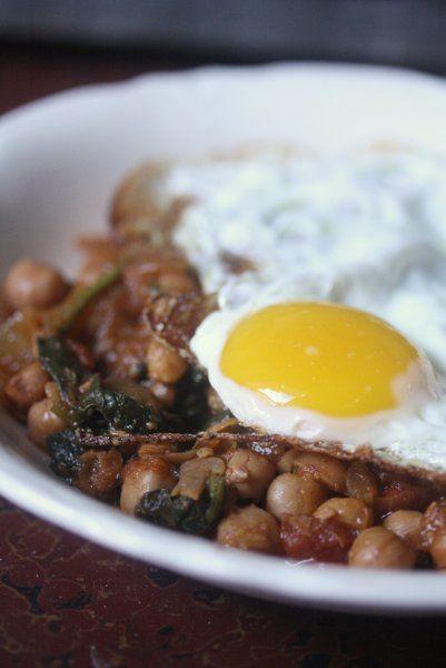 Spanish Chickpea and Spinach Stew #fallfest #spinach #glutenfree