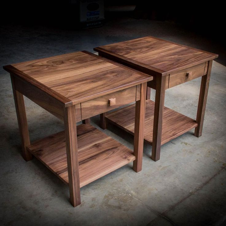 And Here Are The Solid Walnut End Tables That Go With Our Previous Post.