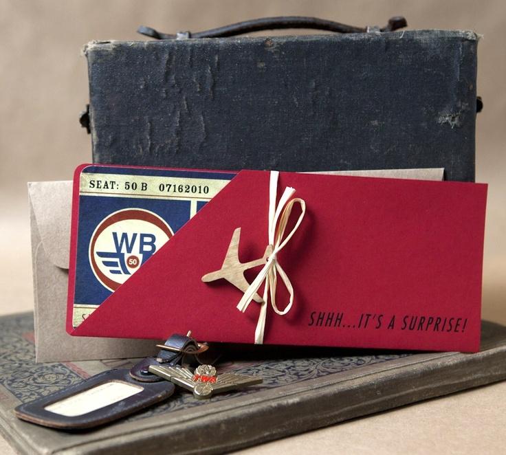 Vintage American Airlines Boarding Pass Invitation - Design Fee. $30.00, via Etsy.